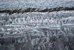 Gletscherspalten Lizenzfreies Stockfoto
