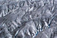 Gletscherspalten Lizenzfreie Stockbilder