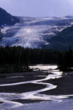 Gletscherstrom in Alaska lizenzfreies stockbild
