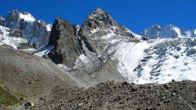 Gletsjer ak-Sai Stock Afbeelding