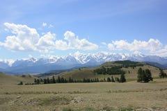 Gletsjer Aktru in de Altai-bergen stock foto's