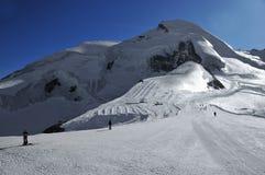Gletsjer al jaar het skiån Royalty-vrije Stock Foto's