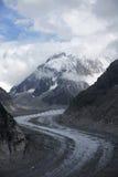 Gletsjer in alpen Royalty-vrije Stock Afbeelding