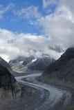 Gletsjer in alpen Stock Foto