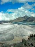 Gletsjer in bergen stock foto's
