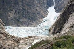 Gletsjer bij Noorse bergen Royalty-vrije Stock Fotografie