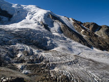 Gletsjer bij Prijs Saas Stock Foto's