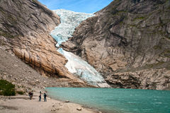 Gletsjer Briksdalen Royalty-vrije Stock Foto's