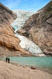 Gletsjer Briksdalen Royalty-vrije Stock Afbeeldingen