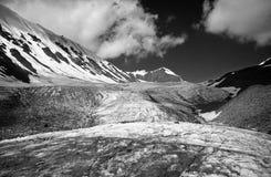 Gletsjer in de Bergen BW van Pamir Royalty-vrije Stock Afbeeldingen