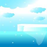 Gletsjer in de oceaan Royalty-vrije Stock Afbeeldingen