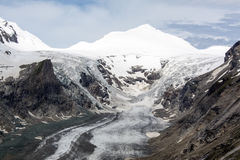 Gletsjer in de Oostenrijkse bergen Stock Afbeeldingen