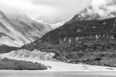 Gletsjer en bergen Royalty-vrije Stock Afbeelding