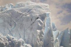 GLETSJER EN HET GLOBALE VERWARMEN PERITO MORENO IN GR CALAFATE PATAGONIË ARGENTINIË Stock Foto
