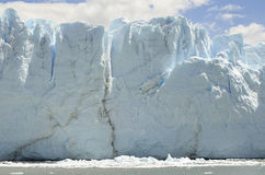 GLETSJER EN HET GLOBALE VERWARMEN PERITO MORENO IN GR CALAFATE PATAGONIË ARGENTINIË Stock Afbeeldingen