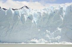 GLETSJER EN HET GLOBALE VERWARMEN PERITO MORENO IN GR CALAFATE PATAGONIË ARGENTINIË Royalty-vrije Stock Foto
