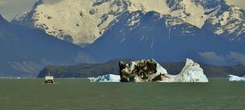 GLETSJER EN HET GLOBALE VERWARMEN PERITO MORENO IN GR CALAFATE PATAGONIË ARGENTINIË Stock Fotografie