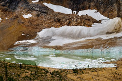 Gletsjer en ijzig meer Royalty-vrije Stock Afbeelding