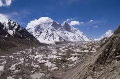 Gletsjer Gangotri, India stock afbeelding