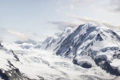 Gletsjer. Het Panorama van het berglandschap. Zwitserland Royalty-vrije Stock Foto's