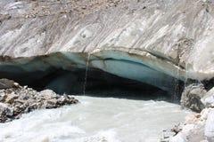 Gletsjer/ijsberg in Georgië Stock Foto
