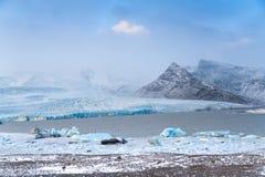 Gletsjer in IJsland stock afbeelding