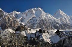 Gletsjer in Kyrgyzstan royalty-vrije stock afbeelding