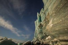 Gletsjer in maanlichten Royalty-vrije Stock Fotografie