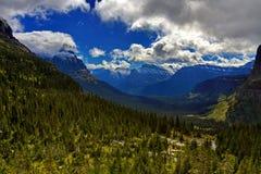 Gletsjer Nationaal Park bij Lunchkreek Stock Fotografie