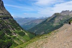 Gletsjer Nationaal Park, gaan-aan-de-zon-Weg, Montana, de V.S. Stock Afbeeldingen