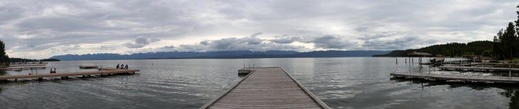 Gletsjer nationaal park, meer Met platte kop, Montana Stock Foto