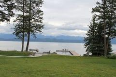 Gletsjer nationaal park, meer Met platte kop, Montana Royalty-vrije Stock Afbeeldingen