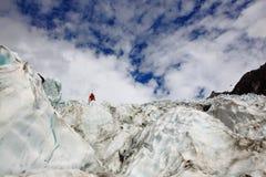 Gletsjer in Nieuw Zeeland Stock Afbeelding