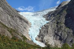 Gletsjer in Noorwegen royalty-vrije stock afbeelding