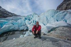 Gletsjer in Noorwegen Royalty-vrije Stock Foto's