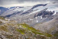 Gletsjer in Noorwegen Stock Foto's