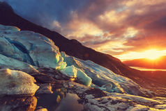 Gletsjer in Noorwegen Royalty-vrije Stock Afbeeldingen