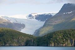 Gletsjer op bergen royalty-vrije stock foto