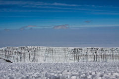 Gletsjer op MT kilimanjaro royalty-vrije stock foto's