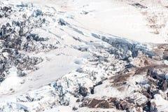 Gletsjer op Regenachtiger Onderstel stock foto's