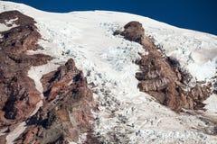 Gletsjer op Regenachtiger Onderstel stock foto