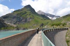 Gletsjer Pasterze van bergen de Oostenrijkse Alpen Stock Afbeeldingen