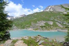 Gletsjer Pasterze van bergen de Oostenrijkse Alpen Stock Afbeelding