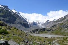 Gletsjer Pasterze van bergen de Oostenrijkse Alpen Royalty-vrije Stock Foto