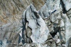 Gletsjer serak barsten royalty-vrije stock fotografie