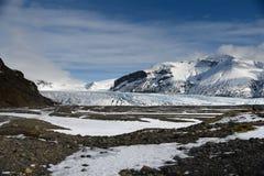 Gletsjer in Skaftafell Royalty-vrije Stock Foto's