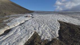 Gletsjer in Svalbard, Spitzbergen Stock Afbeeldingen