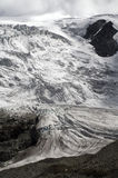 Gletsjer Switserland lake the moiry. With high mountains and snow and ice Stock Photography