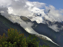 Gletsjer van Mont Blanc stock fotografie