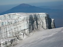 Gletsjer van Mt. Kilimanjaro Stock Foto